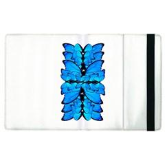Butterfly Art Blue&cyan Apple Ipad 3/4 Flip Case