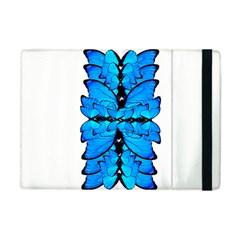Butterfly Art Blue&cyan Apple iPad Mini Flip Case