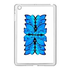 Butterfly Art Blue&cyan Apple iPad Mini Case (White)