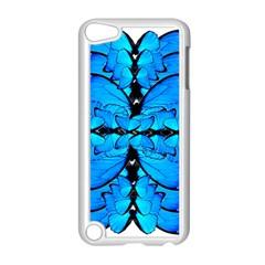 Butterfly Art Blue&cyan Apple iPod Touch 5 Case (White)