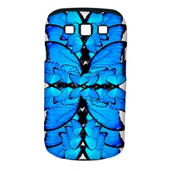 Butterfly Art Blue&cyan Samsung Galaxy S III Classic Hardshell Case (PC+Silicone)