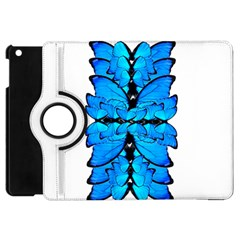 Butterfly Art Blue&cyan Apple iPad Mini Flip 360 Case