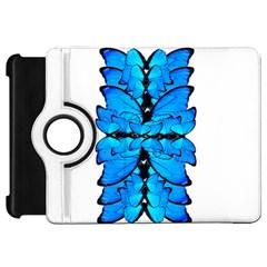 Butterfly Art Blue&cyan Kindle Fire HD 7  (1st Gen) Flip 360 Case