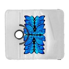Butterfly Art Blue&cyan Samsung Galaxy S  III Flip 360 Case