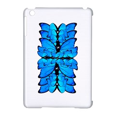 Butterfly Art Blue&cyan Apple iPad Mini Hardshell Case (Compatible with Smart Cover)