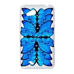 Butterfly Art Blue&cyan HTC T328D (Desire VC) Hardshell Case