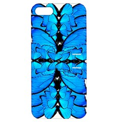 Butterfly Art Blue&cyan Apple iPhone 5 Hardshell Case with Stand