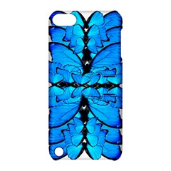 Butterfly Art Blue&cyan Apple iPod Touch 5 Hardshell Case with Stand
