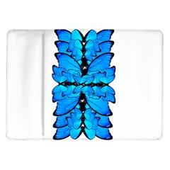 Butterfly Art Blue&cyan Samsung Galaxy Tab 10 1  P7500 Flip Case