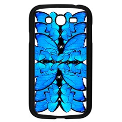 Butterfly Art Blue&cyan Samsung Galaxy Grand DUOS I9082 Case (Black)