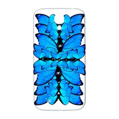 Butterfly Art Blue&cyan Samsung Galaxy S4 I9500/I9505  Hardshell Back Case