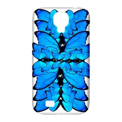 Butterfly Art Blue&cyan Samsung Galaxy S4 Classic Hardshell Case (PC+Silicone)