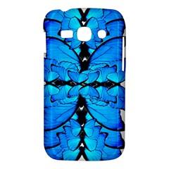 Butterfly Art Blue&cyan Samsung Galaxy Ace 3 S7272 Hardshell Case