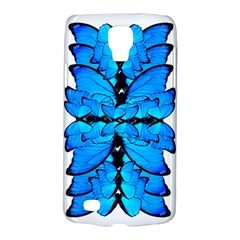 Butterfly Art Blue&cyan Samsung Galaxy S4 Active (I9295) Hardshell Case