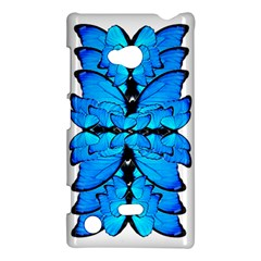 Butterfly Art Blue&cyan Nokia Lumia 720 Hardshell Case