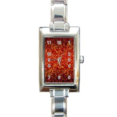 Glitter 3 Rectangular Italian Charm Watch