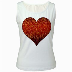 Glitter 3 Women s Tank Top (White)