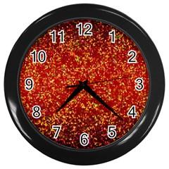 Glitter 3 Wall Clock (Black)