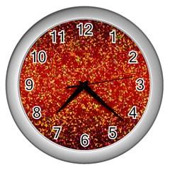 Glitter 3 Wall Clock (silver)