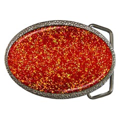 Glitter 3 Belt Buckle (Oval)