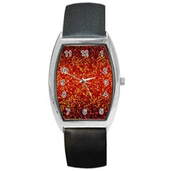 Glitter 3 Tonneau Leather Watch