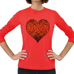 Glitter 3 Women s Long Sleeve T-shirt (Dark Colored)