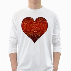 Glitter 3 Men s Long Sleeve T-shirt (White)