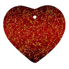 Glitter 3 Heart Ornament (Two Sides)