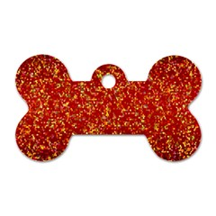 Glitter 3 Dog Tag Bone (One Sided)