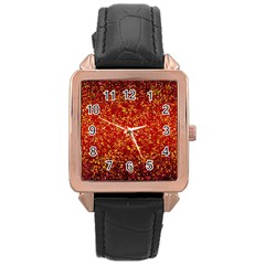 Glitter 3 Rose Gold Leather Watch