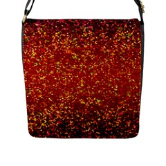 Glitter 3 Flap Closure Messenger Bag (Large)