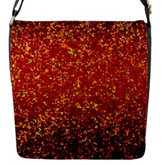 Glitter 3 Flap Closure Messenger Bag (Small)