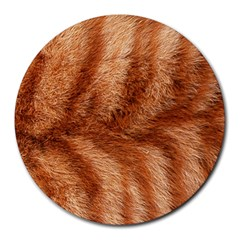 Cat Coat 1 8  Mouse Pad (round)