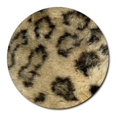 Leopard Coat2 8  Mouse Pad (Round)