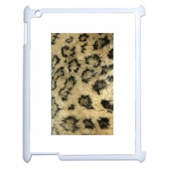 Leopard Coat2 Apple iPad 2 Case (White)