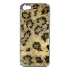 Leopard Coat2 Apple Iphone 5 Case (silver)