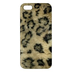 Leopard Coat2 iPhone 5S Premium Hardshell Case