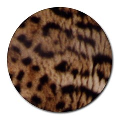 Ocelot Coat 8  Mouse Pad (Round)
