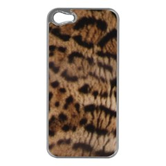 Ocelot Coat Apple iPhone 5 Case (Silver)