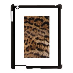 Ocelot Coat Apple iPad 3/4 Case (Black)