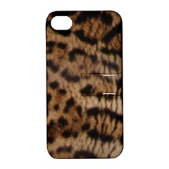 Ocelot Coat Apple iPhone 4/4S Hardshell Case with Stand