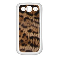 Ocelot Coat Samsung Galaxy S3 Back Case (White)