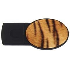 Tiger Coat2 1GB USB Flash Drive (Oval)