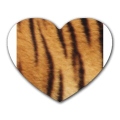 Tiger Coat2 Mouse Pad (heart)