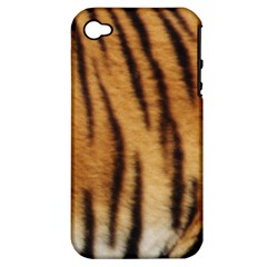 Tiger Coat2 Apple Iphone 4/4s Hardshell Case (pc+silicone)