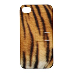 Tiger Coat2 Apple iPhone 4/4S Hardshell Case with Stand