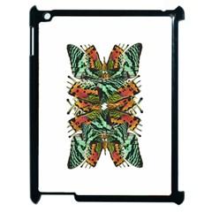 Butterfly Art Green & Orange Apple iPad 2 Case (Black)