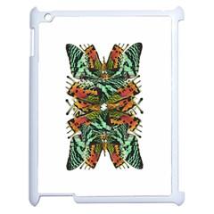 Butterfly Art Green & Orange Apple Ipad 2 Case (white)