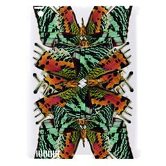 Butterfly Art Green & Orange Apple iPad 3/4 Hardshell Case (Compatible with Smart Cover)