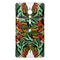 Butterfly Art Green & Orange Sony Xperia ion Hardshell Case